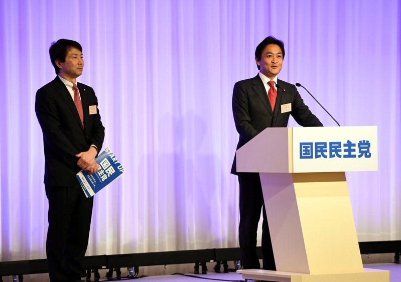 據傳國民民主黨現任黨魁玉木雄一郎拒絕加入合併後的新政黨。(新華社資料照片)