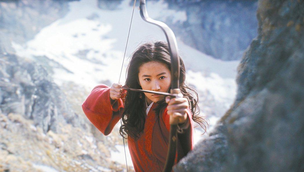 劉亦菲主演的「花木蘭」,9月4日起在Disney+直接上架。圖/迪士尼提供