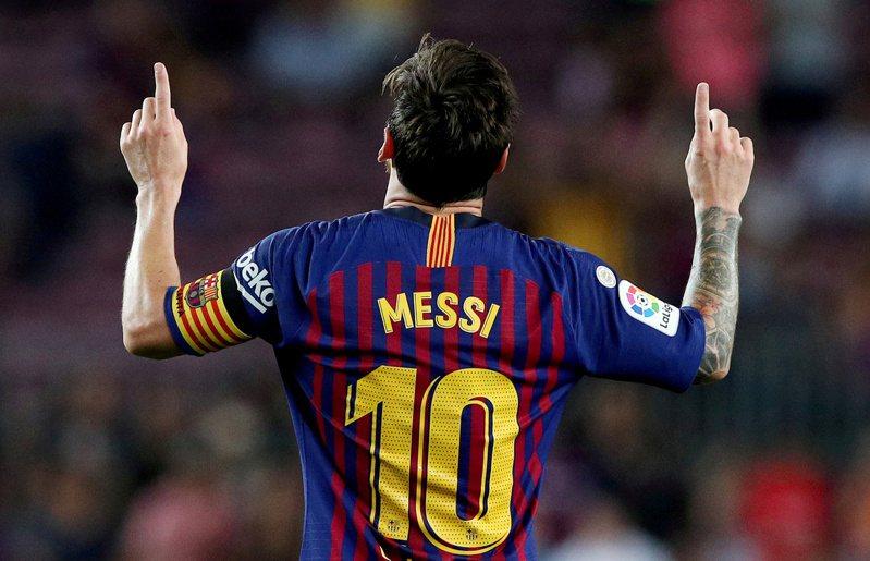足球巨星梅西(Lionel Messi)今天證實,將續留西甲豪門巴塞隆納。 路透社