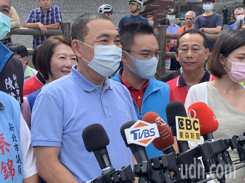 新北市長侯友宜今早出席三芝興華鐵馬驛站啟用。記者魏翊庭/攝影