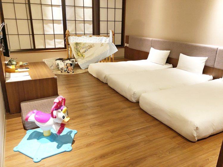 嘉義桔子的親子聯名房型。圖/福泰飯店集團提供