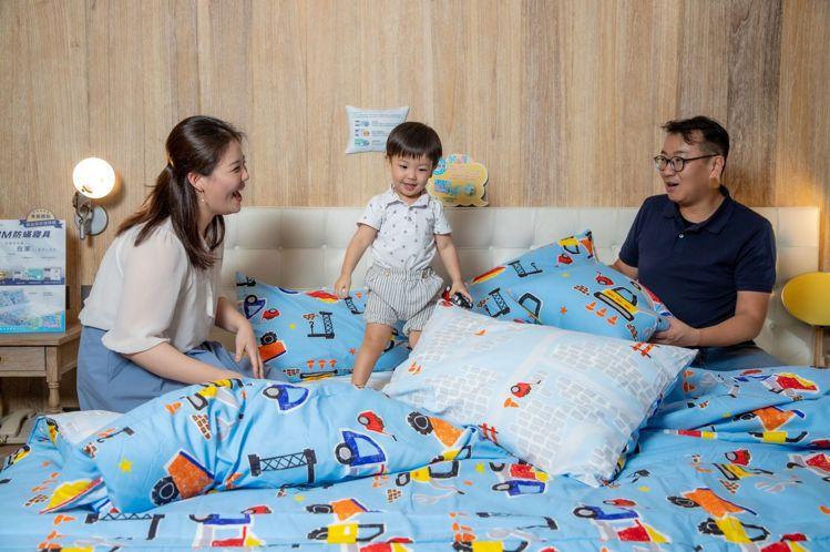 易遊網獨賣的3M防蟎親子套房。圖/3M提供