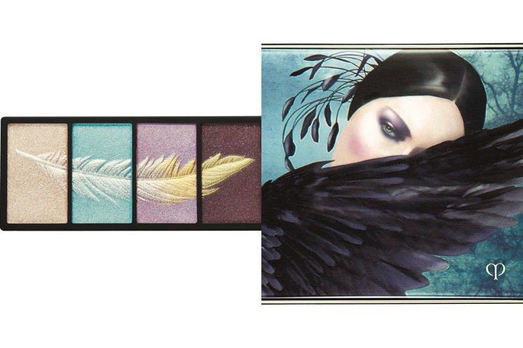 肌膚之鑰幻夢星湖限量系列眼影盤#321華麗羽毛/2,600元。圖/肌膚之鑰提供