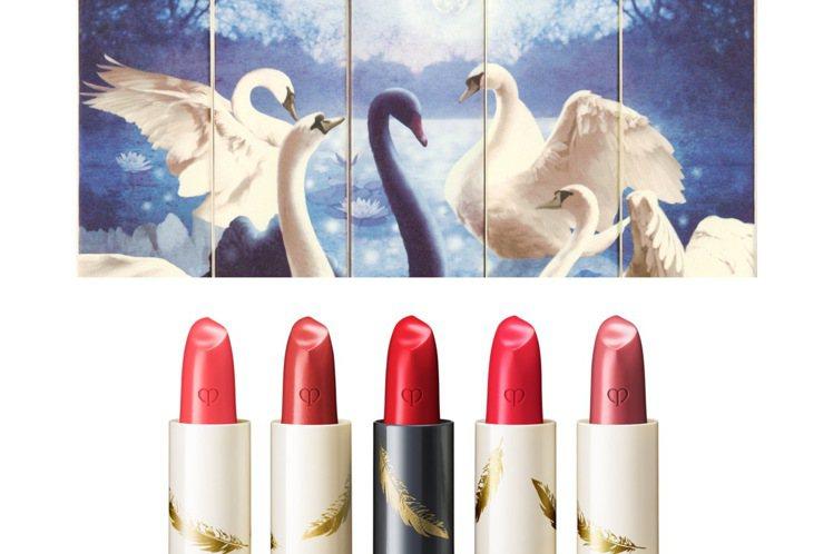 肌膚之鑰幻夢星湖限量系列迷你訂製唇膏組/3,400元。圖/肌膚之鑰提供