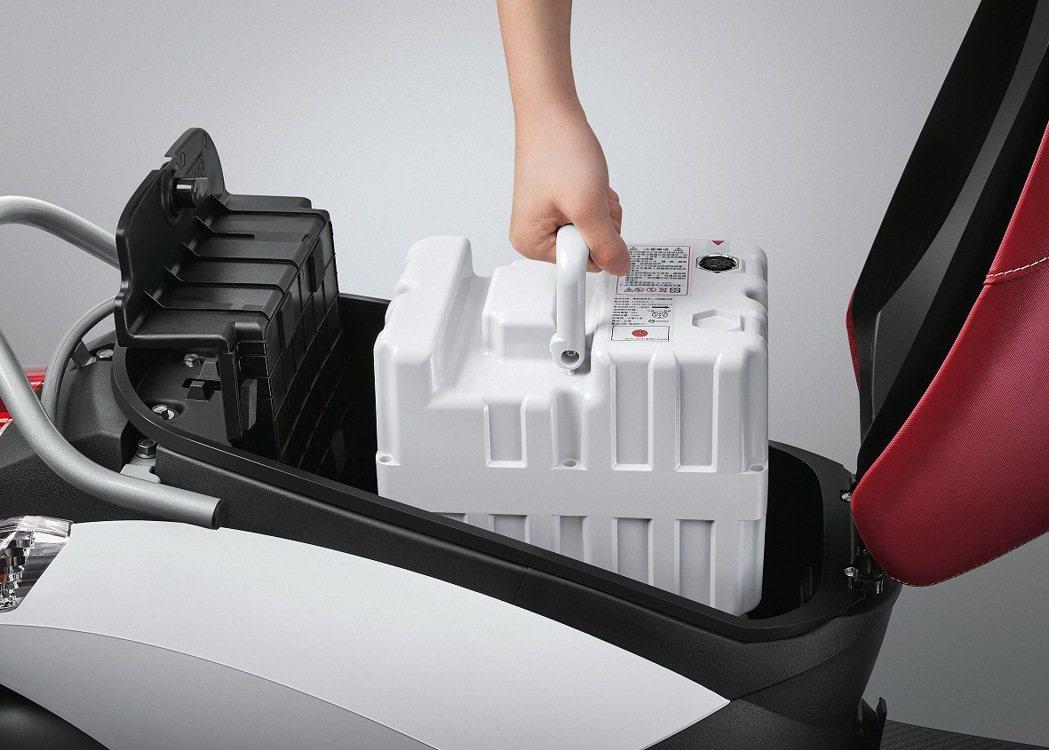 輕巧移動好選擇,emoving可抽取式電池好方便。 圖/中華汽車提供