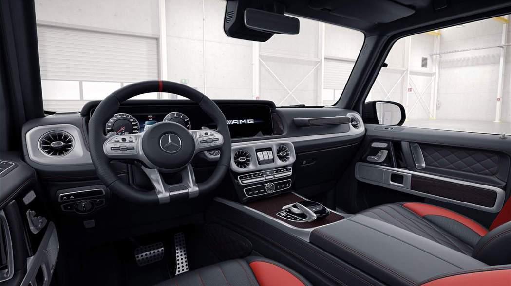 Mercedes-AMG G 63 Edition 1內裝兼具戰鬥感及科技感。 ...