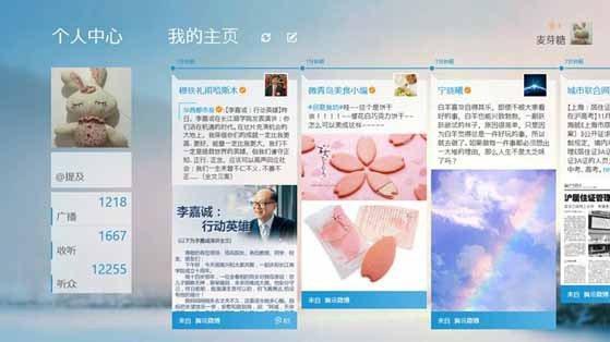 騰訊微博介面。(取材自中文百科網)