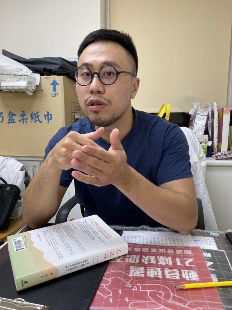 該提案發起人葉柏岑,對衛福部回應表示感謝,認為台灣人權平等又跨進了一大步。記者簡浩正/攝影