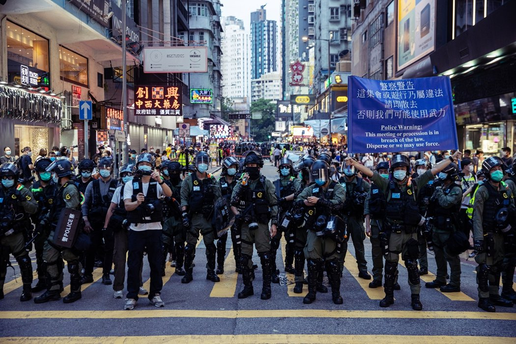 香港警察強力鎮壓清場。 圖/歐新社