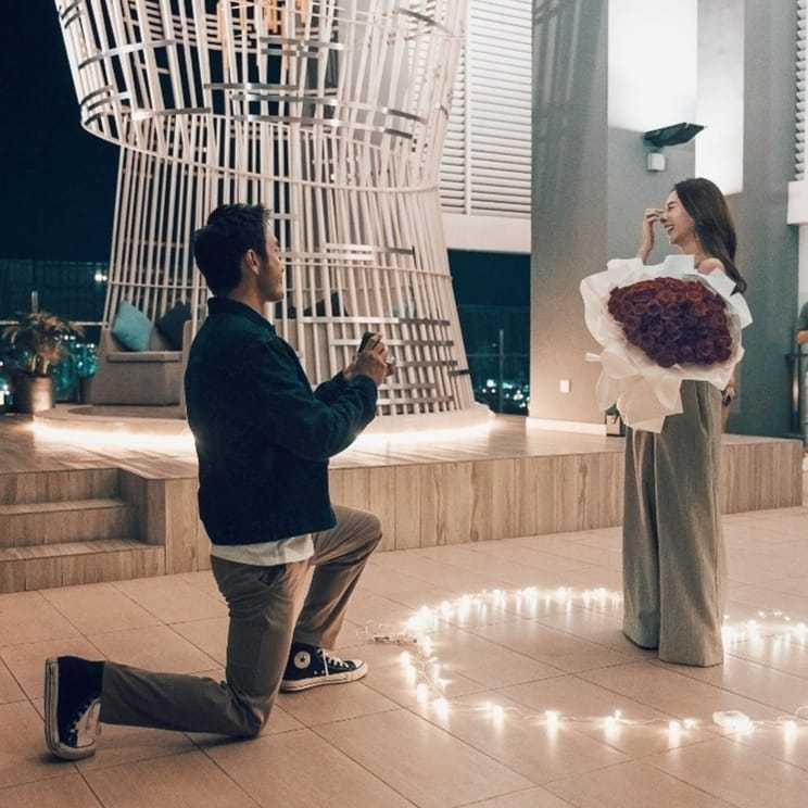 呂銳向女友求婚成功。 圖/擷自呂銳IG