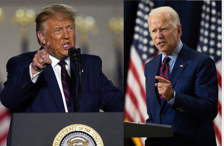 一項新民調指,川普與白登兩人若是政見辯論,川普將占上風。美聯社
