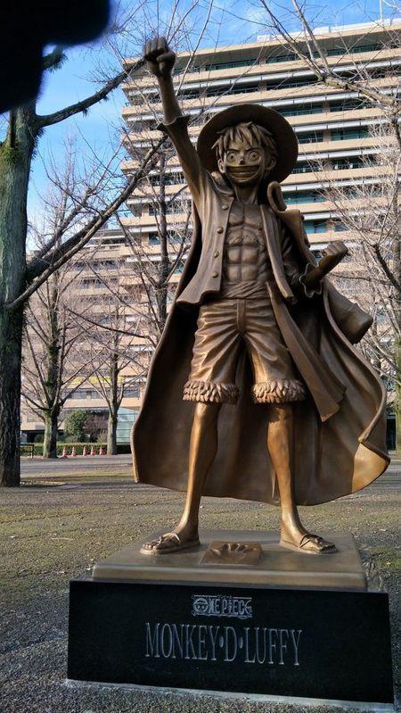 熊本縣町的魯夫雕像