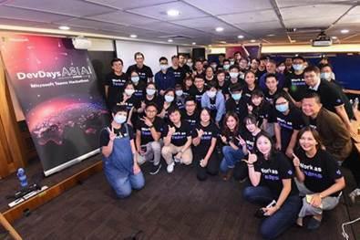 第二屆Microsoft Teams Hackathon圓滿落幕,共計14個隊伍、近百名參賽者熱情參與,積極挖掘工作痛點,打造最適合的解決方案。 台灣微軟/提供