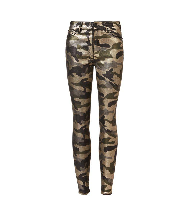 AllSaints Miller金色迷彩緊身牛仔褲6,500元。