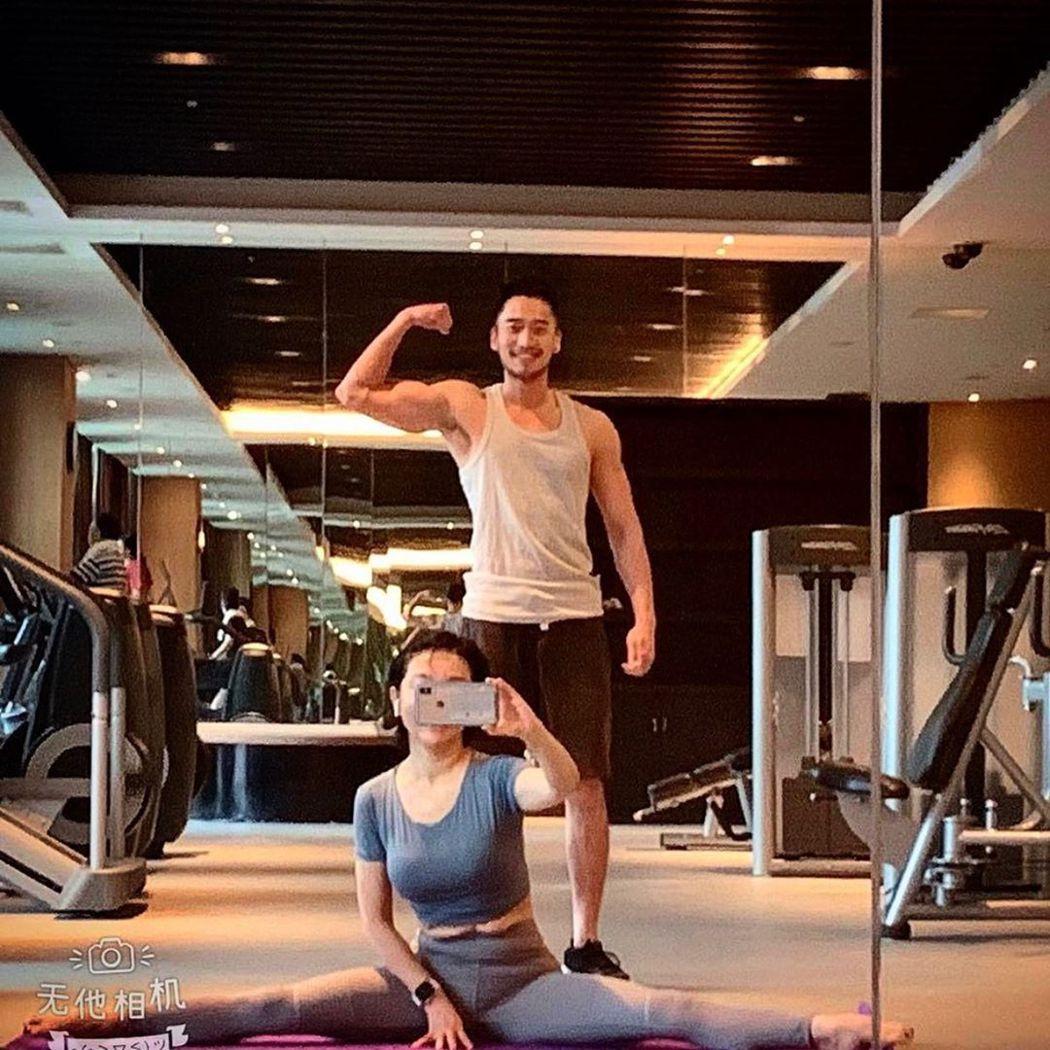 赖弘国分享健身的照片。 图/撷自赖弘国IG