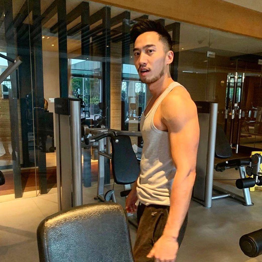 賴弘國分享健身的照片。 圖/擷自賴弘國IG