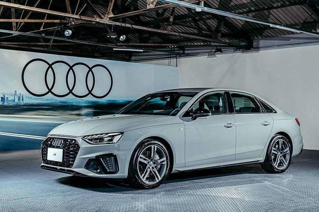 Audi A4/A4 Avant採用新式樣的極線LED識別燈和LED 極光頭燈組...