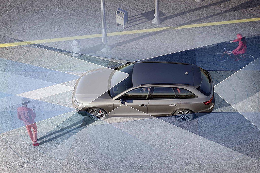 Audi A4全車系皆標配先進安全科技,除ACC主動式定速巡航控制系統、主動式車...