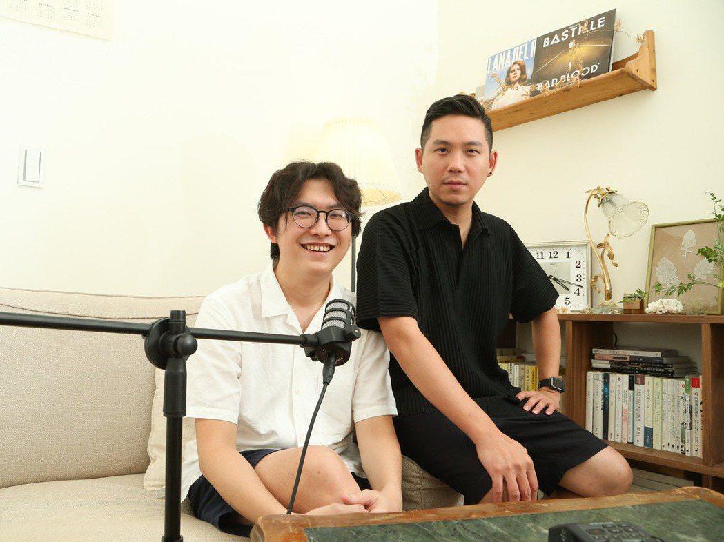 張柏韋(左)和顏伯駿既是無話不談的知心好友,也是擁有高度合作默契的工作夥伴。 圖...