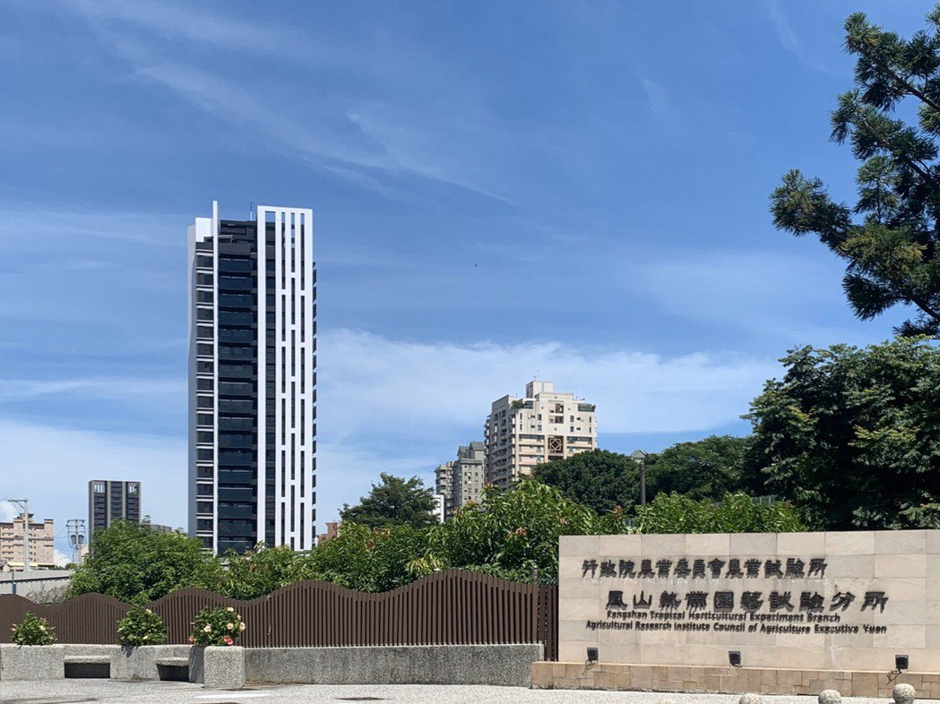 歐美建設新案「文森青」,位置就在鳳山熱帶園藝試驗所正前方,可享滿眼綠意。 圖片提...