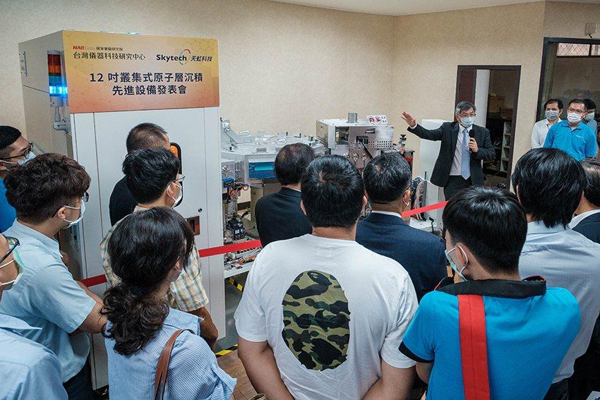 國研院儀科中心與天虹科技整合雙方技術共同開發市場行情新台幣億元的12吋量產型叢集...