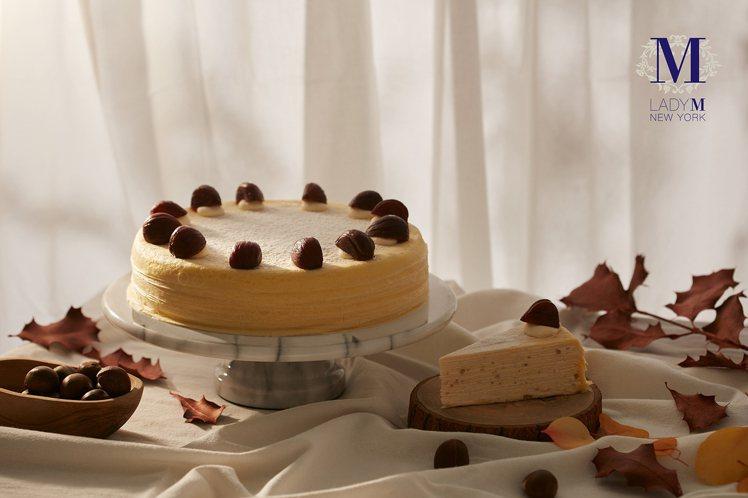 栗子千層蛋糕再度回歸,9吋2,800元。圖/Lady M提供