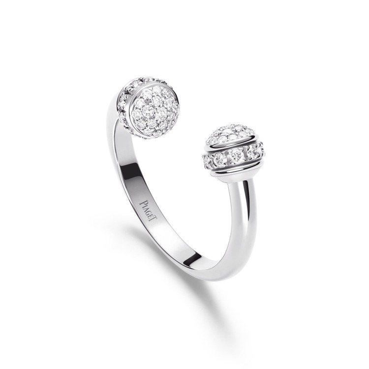 PIAGET,Possession系列18K白金鑲鑽戒指,14萬5,000元起。...