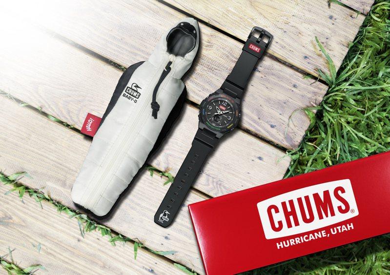 Baby-G首度和時髦戶外休閒品牌Chums聯手,把當前最受到消費者歡迎的各種Outdoor元素都放上腕表。圖/Casio提供