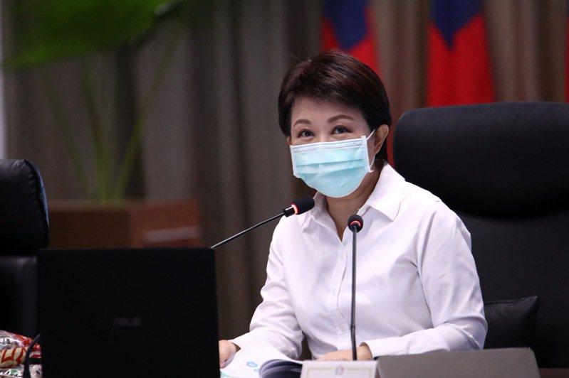 台中市長盧秀燕最新民調比去年進步。記者陳秋雲/攝影