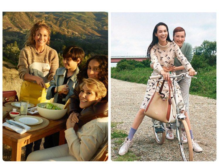 珍妮佛羅培茲和水原希子一起加入COACH Family的拍攝。圖/COACH提供...