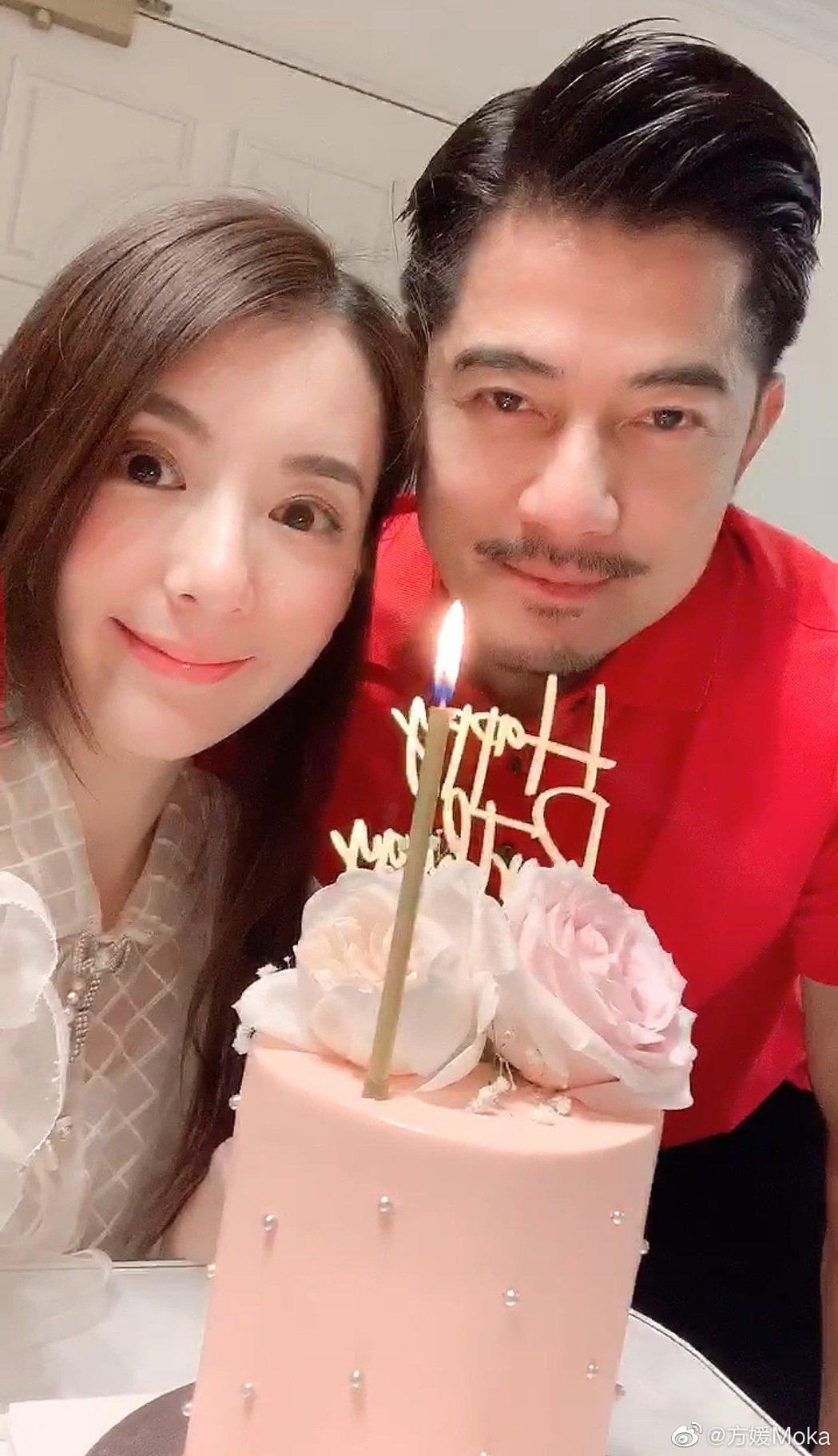 方媛(左)和郭富城結婚3年。圖/摘自微博