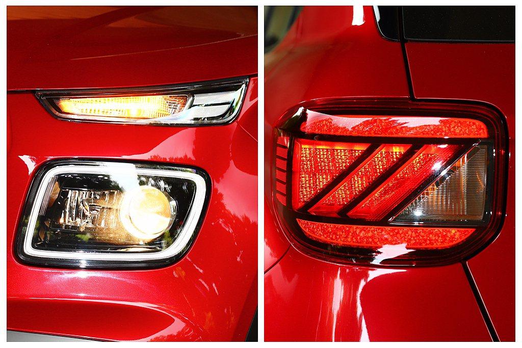 最頂級車型Hyundai Venue GLC配有環型LED日行燈以及LED尾燈。...