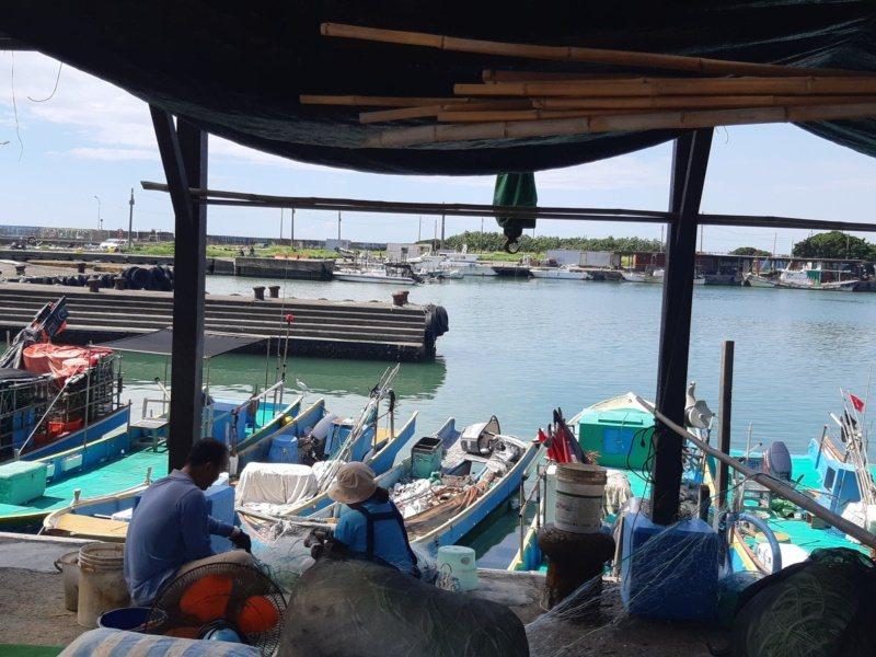 彌陀南寮漁港仰賴近海漁業,漁船「現撈仔」漁獲大多在清晨入港卸魚。 圖/賴郁薇 攝...