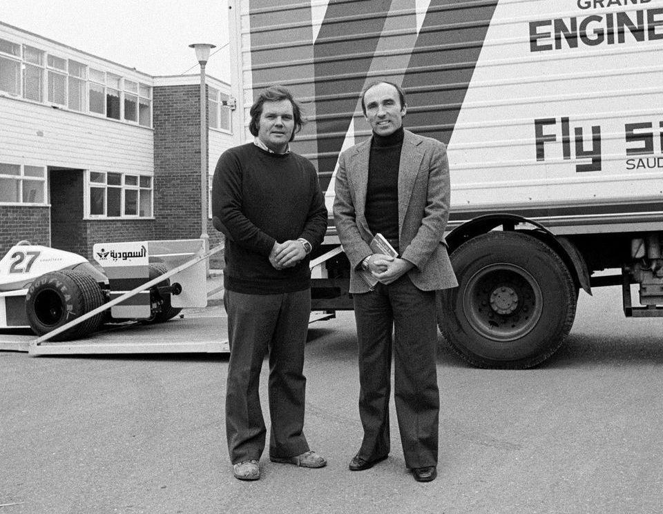 Frank Williams(圖右)和Patrick Head(圖左)一同創立現...