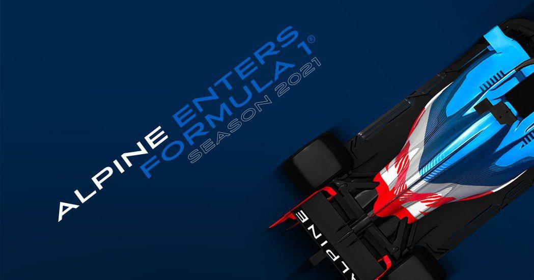 Renault車隊下賽季將更名Alpine車隊。 摘自Renault F1 Te...