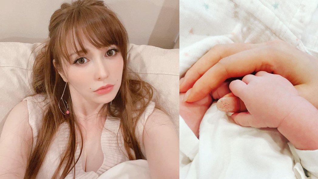 藤井莉娜在IG曝光寶寶小手照。圖/擷自IG