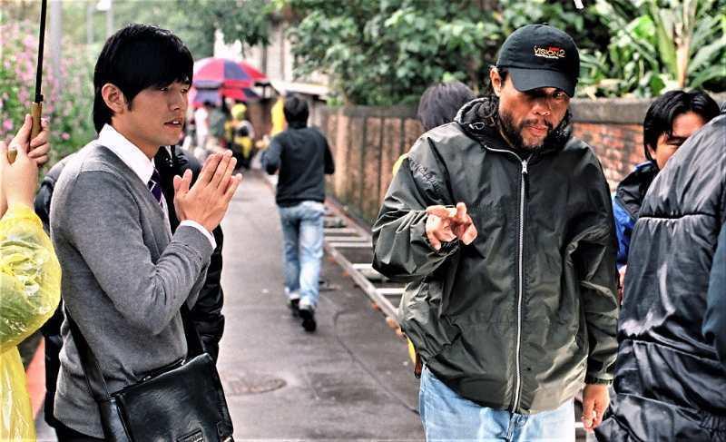 李屏賓(右)曾與周杰倫合作《不能說的秘密》。圖/李屏賓提供