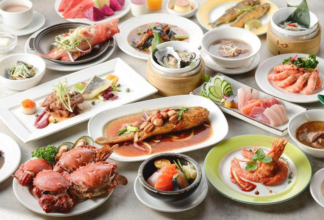 歐式自助餐眾多新鮮美味,一次滿足。  台南大飯店 提供
