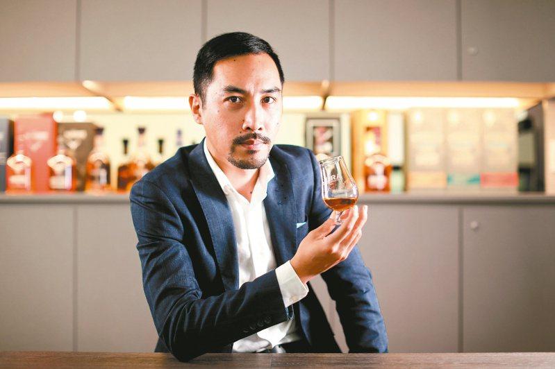 尚格酒業品牌大使劉俊賢,將禮儀、廉恥、忍耐、克己、百折不屈的跆拳道精神,融入他對威士忌的詮釋。記者吳致碩/攝影