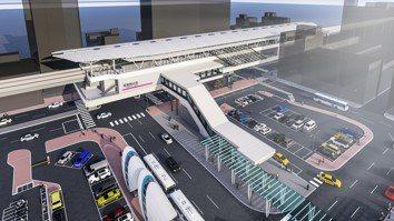 高雄捷運RK1岡山站完工模擬圖。圖/高雄市捷運局提供