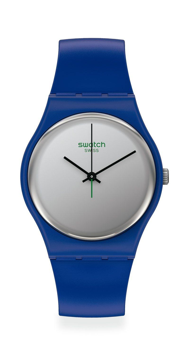 SWATCH 1983復刻經典Gent系列史瓦希里SilverWakati腕表2,200元。圖/SWATCH提供