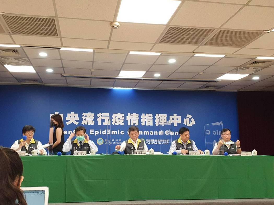 中央流行疫情指揮中心9月9日14:00記者會出席名單由左到右中央流行疫情指揮中心...