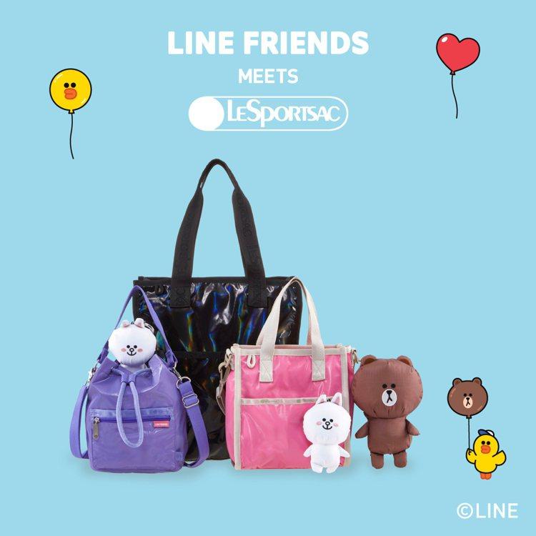 LeSportsac攜手擁有廣大粉絲的LINE FRIENDS推出聯名系列包款。...