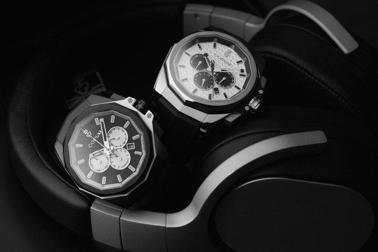 CORUM的海軍上將系列三眼計時腕表鈦金屬款,大膽翻玩黑、白雙色,也向玩家熱愛的...