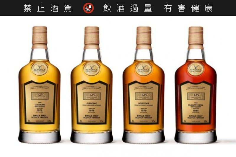 慶祝125周年,高登麥克菲爾將連續發行四款超豪華的絕版收藏戰艦。圖/高登麥克菲爾提供。提醒您:禁止酒駕 飲酒過量有礙健康。