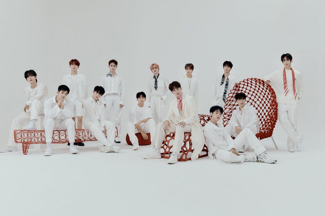 南韓男團SEVENTEEN將透過視訊方式與台灣克拉(粉絲暱稱)們線上重逢。圖/R