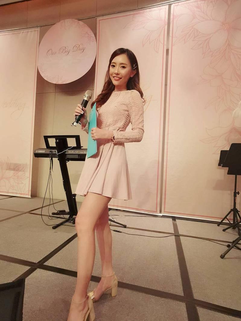 第4屆台灣小姐冠軍陳怡文身兼活動主持人、模特兒等多職。圖/陳怡文提供