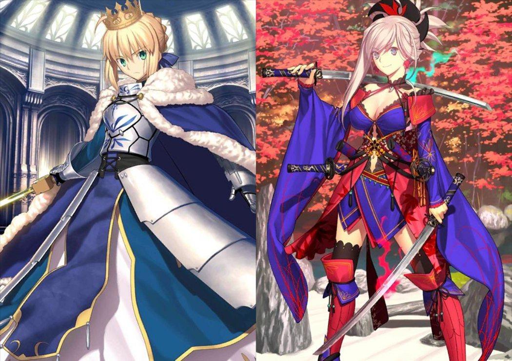 阿爾托莉亞(左)、武藏(右)