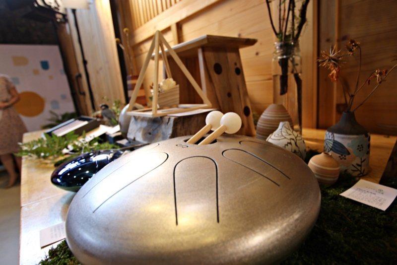 天鼓的樂音悠揚空靈,非常好聽,「Sine.天鼓」打造宜蘭在地品牌。 圖/宜蘭縣文...