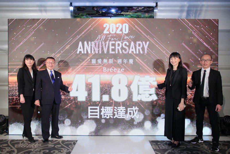 微風集團執行常董岡一郎(左二)指出,「台灣防疫成果是全世界一級棒,也讓各國羨慕,我是日本人生活在台灣都覺得非常Lucky、覺得很有面子。」圖/微風提供